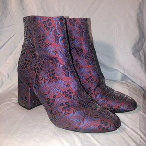 embroidered pattern booties
